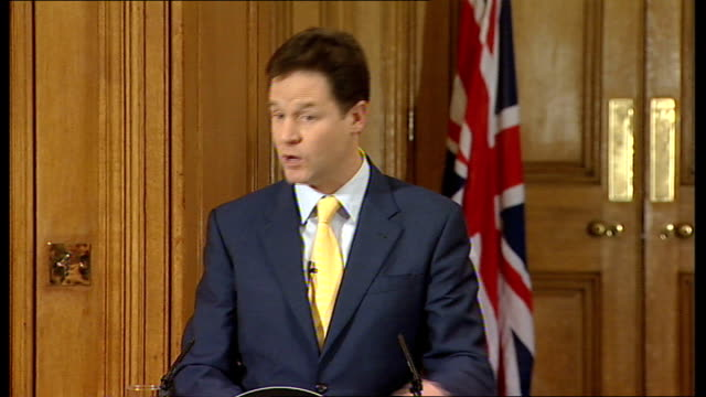 David Cameron and Nick Clegg joint press conference Nick Clegg MP press conference SOT Wishing you all a Merry Christmas / I don't think I've seen...