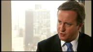 David Cameron appears before United Nations USA New York INT David Cameron MP interview SOT It is a call to make sure as well as signing declarations...