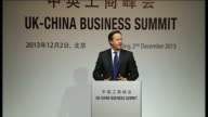 David Cameron arrival in Beijing Applause for David Cameron onto stage David Cameron MP speech SOT Thanks VP Wang I'm absolutely to be back in...