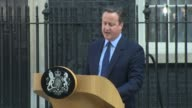 David Cameron at Downing Street on June 24 2016 in London England