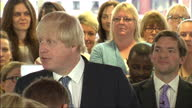 David Cameron Boris Johnson continue Tory campaign in Hendon Shows interior shots Boris Johnson speaking to crowds criticising Labour pointing out...