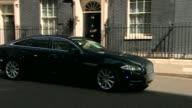 London Downing Street EXT David Cameron MP out of No10 and into car Car away Priti Patel MP entering No10 Amber Rudd MP along to No10 Sajid Javid MP...