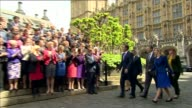 David Cameron Cabinet reshuffle Houses of Parliament David Cameron MP along with newly elected Conservative MPs Tania Mathias MP Craig Tracey MP...
