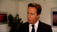 David Cameron confirms the military covenant will become law ENGLAND London INT David Cameron MP interview SOT The armed forces do fantastic work for...