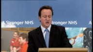 David Cameron gives speech on National Health Service A Conservative Government will pursue these in two ways empowering patients and empowering...