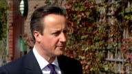 David Cameron holds PM Direct event in Peacehaven Cameron interview ENGLAND East Sussex Peacehaven EXT David Cameron MP set up shot with reporter...