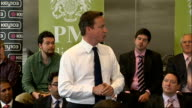 David Cameron holds 'PM Direct' meeting in Manchester ENGLAND Manchester INT David Cameron MP introductory speech at PM Direct meeting SOT To have a...