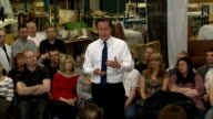 David Cameron holds PM Direct session in Long Eaton More of Cameron answering questions from audience SOT / Cameron away