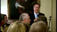 David Cameron hosts armed forces charity reception at Downing Street Reception and speech David Cameron speech SOT Whole country wants to help /...