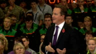 David Cameron hosts PM Direct event at Mini factory Cameron Question and Answer session SOT