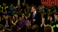 David Cameron hosts PM Direct event at Mini factory Cameron Question and Answer session SOT Cameron ends session and thanks audience SOT / Cameron...