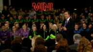 David Cameron hosts PM Direct event at Mini factory David Cameron MP Question and Answer session SOT