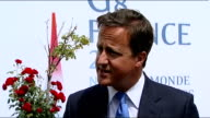 David Cameron interview at G8 summit Cameron interview SOT On issue of possibly sending Apache helicopters to Libya we have already stopped a...