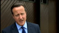 David Cameron interview on Malaysia Airlines plane crash WALES Powys EXT David Cameorn MP interview SOT On reaction to Malaysia Airlines MH17 crash /...