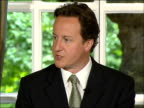 David Cameron launching Conservative Party democracy pamphlet ENGLAND London Westminster St Stephen's Club INT David Cameron MP to podium and...