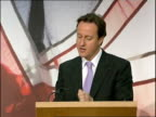 David Cameron makes speech on how power can be devolved to local communities ENGLAND London Bethnal Green The Young Foundation PHOTOGRAPHY * * David...