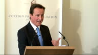 David Cameron makes speech on human rights at Foreign Press Association Cameron takes questions from members of the Foreign Press Association about...