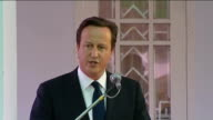 press conference David Cameron MP press conference SOT I think it is right to suspend sanctions against Burma not including the arms embargo / so...