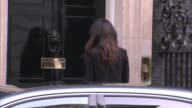 David Cameron meets with Mohamed Nasheed and Amal Clooney ENGLAND London Downing Street EXT Car arriving and Amal Clooney getting out and along into...