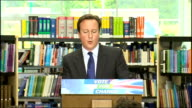 David Cameron pledges redistribution of power from Westminster Cameron speech SOT Transparency opens up politics / Tiny percentage of population...