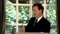 David Cameron press conference on Georgia crisis / housing market / elections Q A Cameron on state of politics SOT Hope people look at Conservatives...
