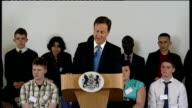 David Cameron relaunches the 'Big Society' Cameron speech SOT We are developing a new test for all policies that they should demonstrate not just how...