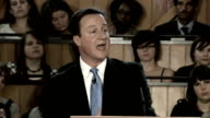 David Cameron says government policies must pass 'family test' LIB Lambeth Cameron speech SOT We will be the most familyfriendly Government you've...