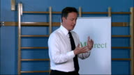 David Cameron speaks at his first PM Direct meeting in Leeds David Cameron MP QA session SOT on gender inequality in science enginerring and...