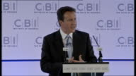 David Cameron speech at CBI For a start savers need the reassurance that if another bank goes bust their hardearned cash is protected So the...