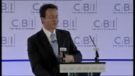 David Cameron speech at CBI Of course the problems we face today are partly global finance has been squeezed worldwide food prices are rising across...