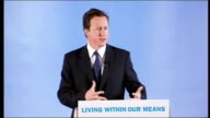 Birmingham INT David Cameron MP speech SOT 'For the past two and a half years the changes I have led in this Party have been aimed in one direction...