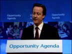 David Cameron speech launching schools policy at Mossbourne Academy ENGLAND London Hackney Mossbourne Academy PHOTOGRAPHY** David Cameron MP speech...