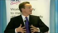 David Cameron speech on ageing UK population David Cameron MP speech SOT Talks about enjoying the mornings events Part of what I'm trying to say is...