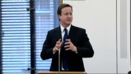 David Cameron speech on education policy ENGLAND London Conservative Party HQ EXT David Cameron MP speech SOT I want to say 3 clear things / Firstly...