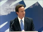 David Cameron speech on equal pay and economic stability David Cameron MP speech SOT Let me turn to the financial and economic picture / The lines of...