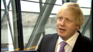 Boris Johnson interview ENGLAND London City Hall INT Boris Johnson MP interview SOT he's got it right big chance for us to get a great deal for...