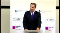 London Royal College of GPs INT David Cameron MP along to podium and speech SOT Its great to be here and to have this chance to say a huge thank you...