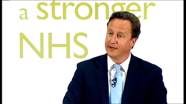 David Cameron speech on NHS reforms Cameron speech SOT First I've heard doctors tell me they want more choice on behalf of their patients but they...