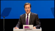 David Cameron speech on public sector pensions reform ENGLAND London LGA Conference INT David Cameron MP along to podium David Cameron MP speech SOT...