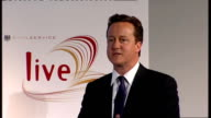 David Cameron speech on Public Sector Reform David Cameron MP speech SOT talks about watching England v Germany World Cup match with German...