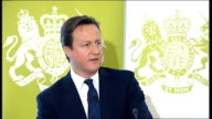 David Cameron speech on public service reform David Cameron speech continued SOT Our structural changes can help them Just consider the evidence of...