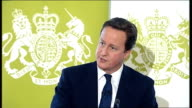 David Cameron speech on public service reform David Cameron speech continued SOT Every pound saved this way helps save jobs and services At the same...