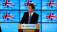 David Cameron speech to Conservative Party members in Kent Cameron speech SOT Conservatives haven't lost any time trying to turn that around / We...