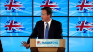 David Cameron speech to Conservative Party members in Kent Cameron speech SOT Must make sure we balance the books in fair way / Protect benefits to...