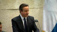 David Cameron speech to Knesset Cameron speech SOT Similarly while of course extremism feeds on conflict in the Middle East and elsewhere Israel is...