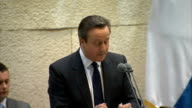 David Cameron speech to Knesset no more excuses for the 32 countries in the United Nations who refuse to recognise Israel and for the Arab League how...