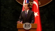 David Cameron speech David Cameron MP speech SOT Whether in Afghanistan or in the Middle East Turkey has a credibility that others in the West just...