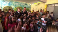 David Cameron travels to Lebanon and Jordan to visit refugee camps and assess plans to resettle thousands of refugees into the UK He also visited a...