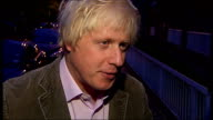 David Cameron under fire from Conservatives over housing benefit child benefit and EU concessions ENGLAND London London Mayor Boris Johnson interview...