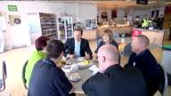 David Cameron visits ASDA distribution centre ENGLAND Kent Dartford INT Workers along in ASDA distribution centre warehouse / worker along in...